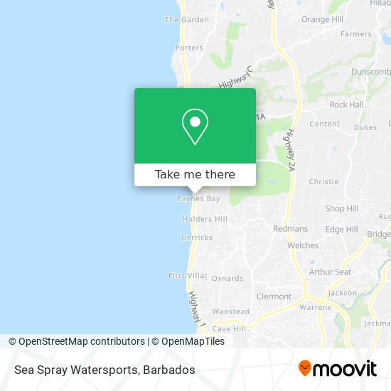 Sea Spray Watersports map