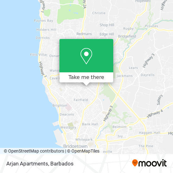 Arjan Apartments map
