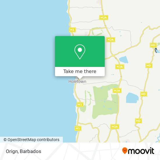 Orign map