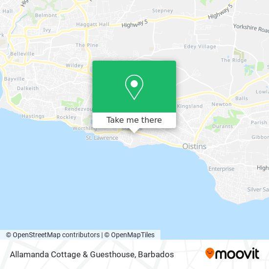 Allamanda Cottage & Guesthouse map