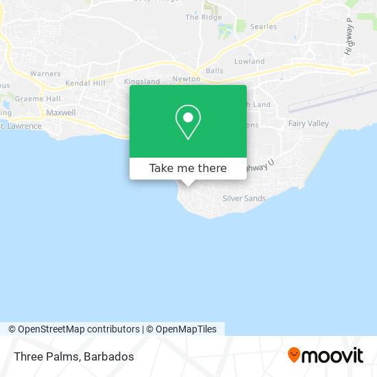 Three Palms map