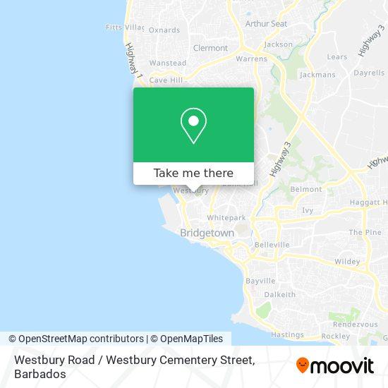 Westbury Road / Westbury Cementery Street map