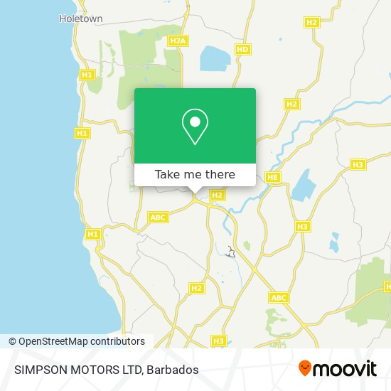 SIMPSON MOTORS LTD map