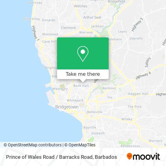 Prince of Wales Road / Barracks Road map