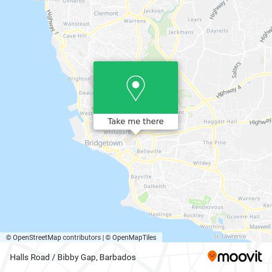 Halls Road / Bibby Gap map