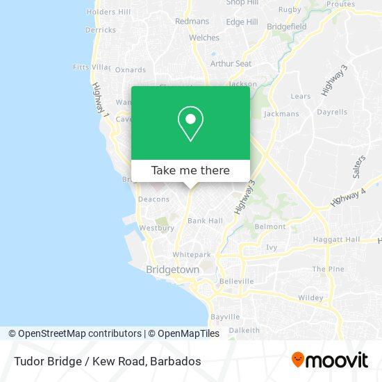 Tudor Bridge / Kew Road map