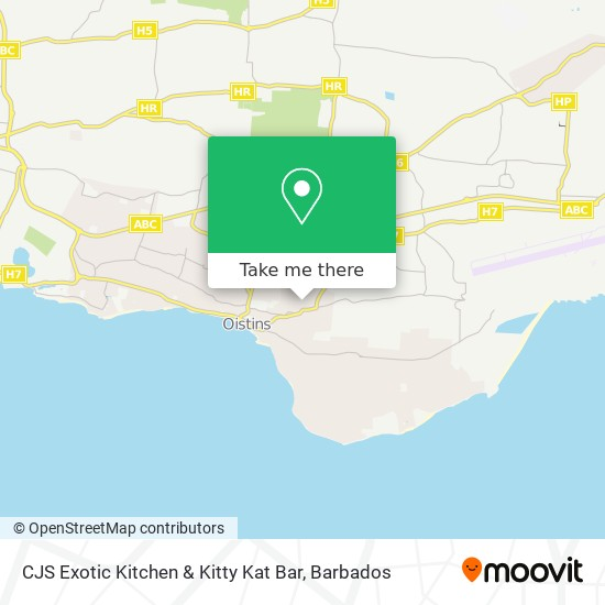 CJS Exotic Kitchen & Kitty Kat Bar map