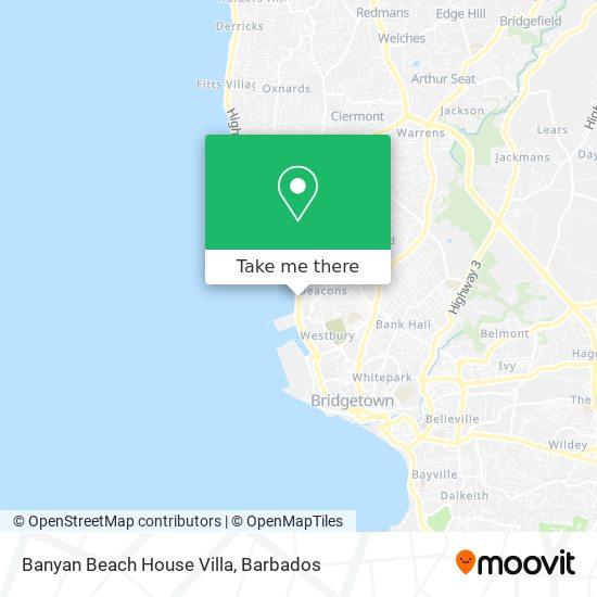 Banyan Beach House Villa map