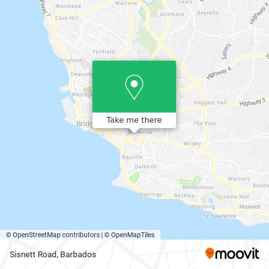 Sisnett Road map