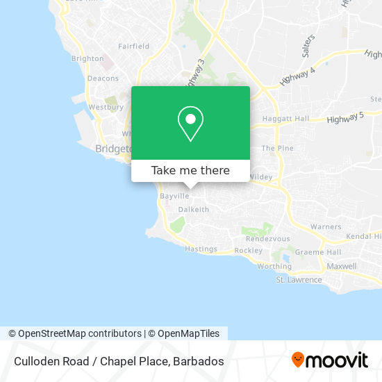Culloden Road / Chapel Place map