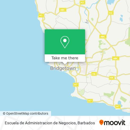 Escuela de Administracion de Negocios map