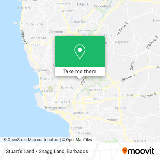 Stuart's Land / Snagg Land map