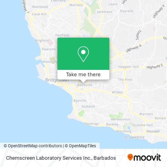 Chemscreen Laboratory Services Inc. map