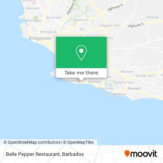 Belle Pepper Restaurant map