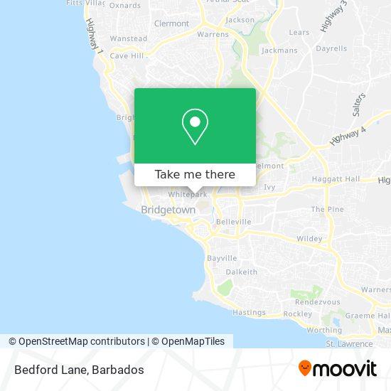 Bedford Lane map