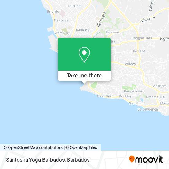 Santosha Yoga Barbados map