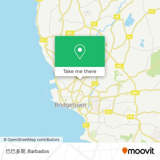 巴巴多斯 map