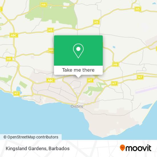 Kingsland Gardens map