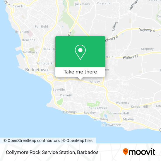Sol Collymore Rock Service Station map