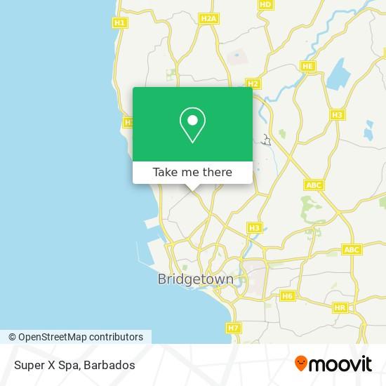 Super X Spa map