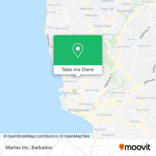 Martex Inc. map