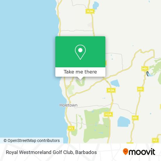 Royal Westmorland Golf Club map