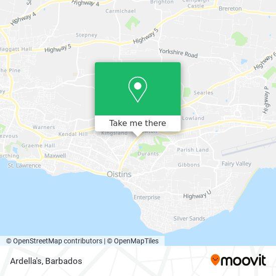 Ardella's map