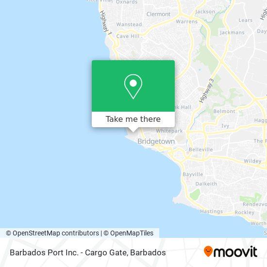 Barbados Port Inc. - Cargo Gate map