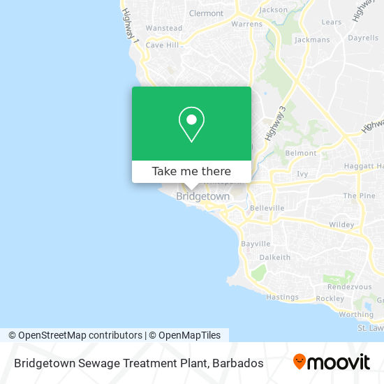Bridgetown Sewage Treatment Plant map