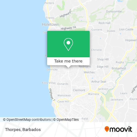 Thorpes map