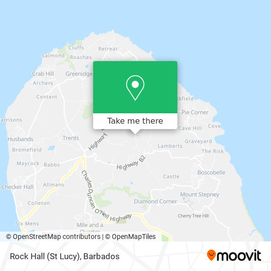 Rock Hall (St Lucy) map