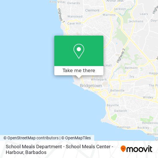 School Meals Department - School Meals Center - Harbour map