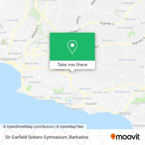 Sir Garfield Sobers Gymnasium map