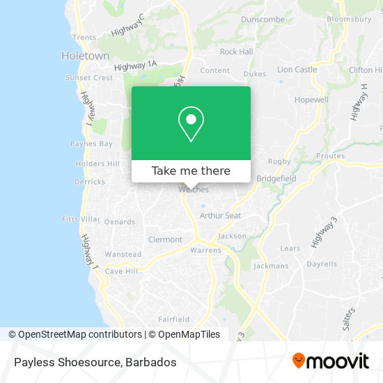 Payless Shoe Source map