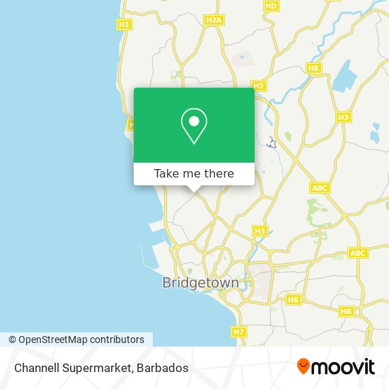 Channell Supermarket map