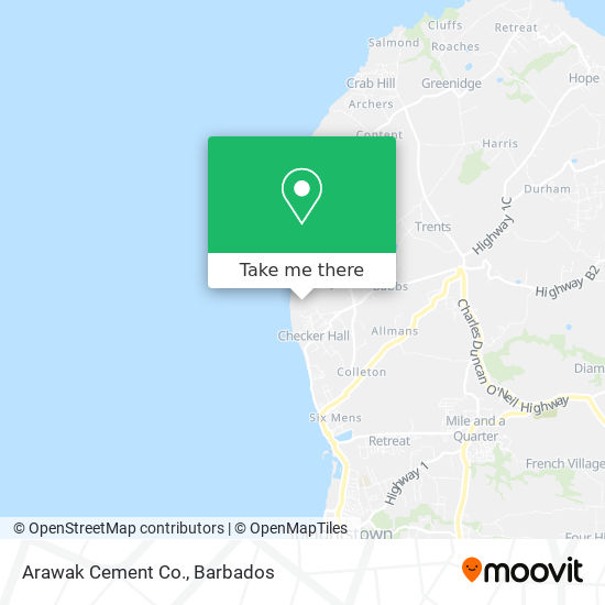 Arawak Cement Co. map