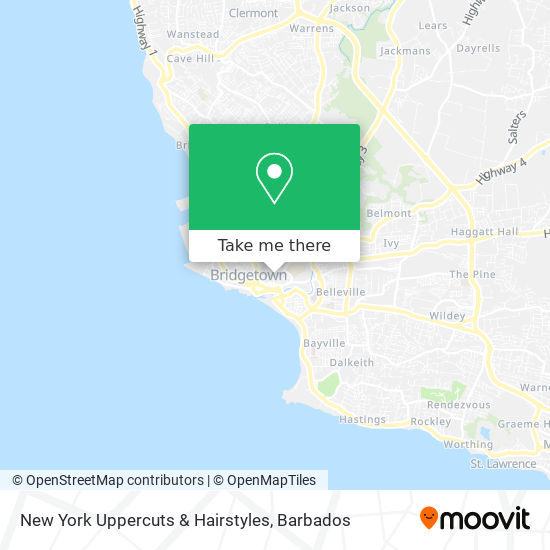 New York Uppercuts & Hairstyles map