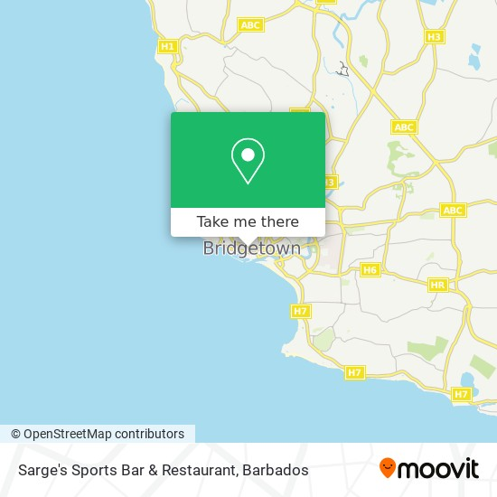 Sarge's Sports Bar & Restaurant map