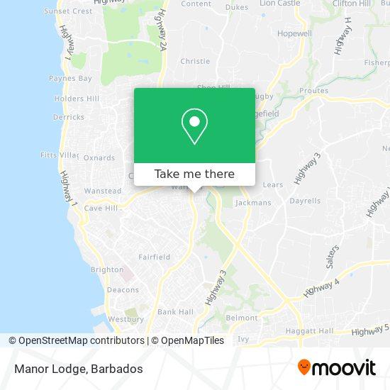 Manor Lodge map