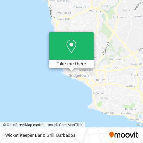 Wicket Keeper Bar & Grill map