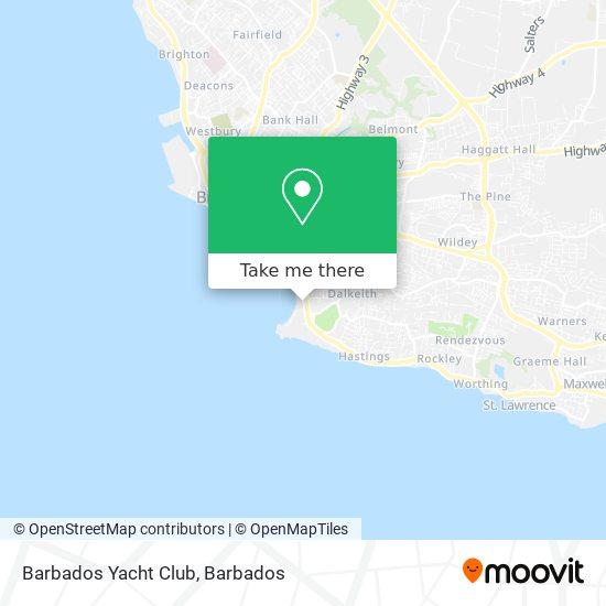 The Barbados Yacht Club map