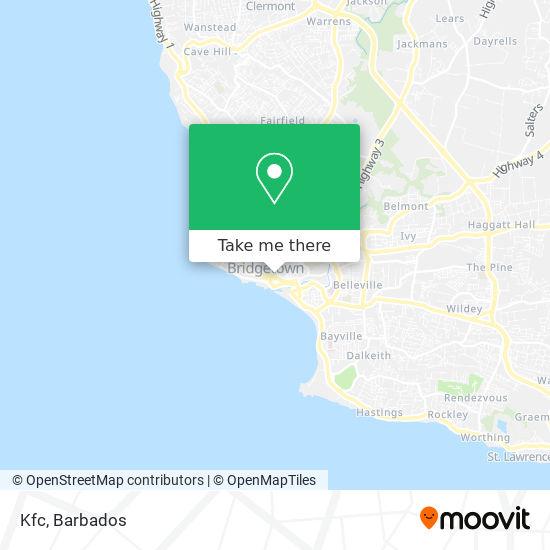 Kfc - Trident House map