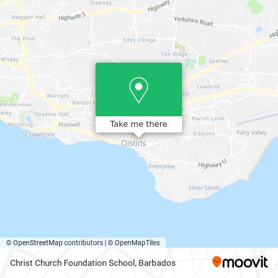 Christ Church Foundation School map