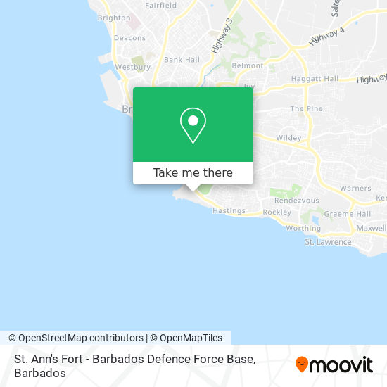 St. Ann's Fort - Barbados Defence Force Base map