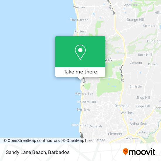 Sandy Lane Beach map