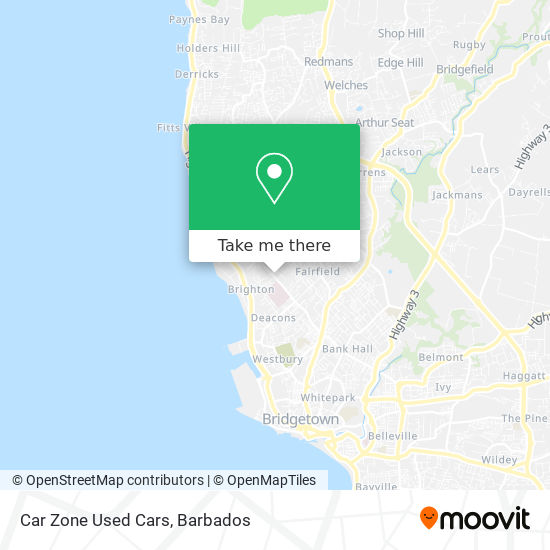 Car Zone Used Cars map