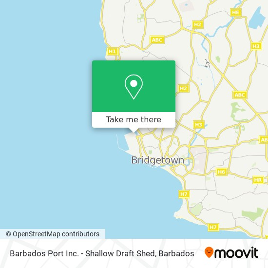 Barbados Port Inc. - Shallow Draft Shed map