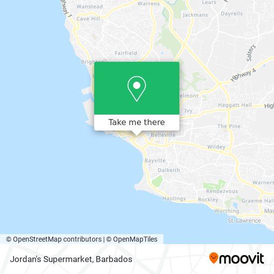 Jordan's Supermarket map