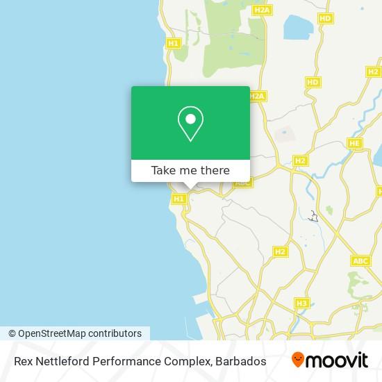 Rex Nettleford Performance Complex map