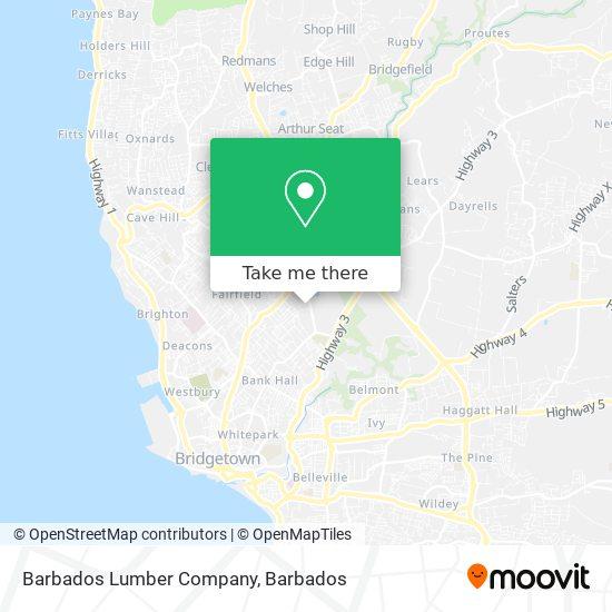 Barbados Lumber Company map